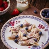 Домашние вареники в ресторане украинской кухни
